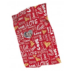 Plaid Love Personalizzato Con Foto